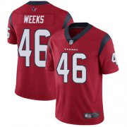 Wholesale Cheap Nike Texans #46 Jon Weeks Red Alternate Men's Stitched NFL Vapor Untouchable Limited Jersey
