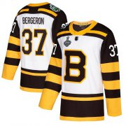 Wholesale Cheap Adidas Bruins #37 Patrice Bergeron White Authentic 2019 Winter Classic Stanley Cup Final Bound Stitched NHL Jersey