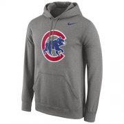 Wholesale Cheap Chicago Cubs Nike Logo Performance Pullover Gray MLB Hoodie