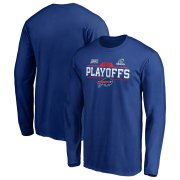 Wholesale Cheap Buffalo Bills 2019 NFL Playoffs Bound Chip Shot Long Sleeve T-Shirt Royal