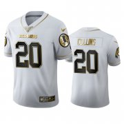 Wholesale Cheap Washington Redskins #20 Landon Collins Men's Nike White Golden Edition Vapor Limited NFL 100 Jersey