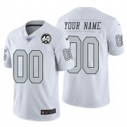 Wholesale Cheap Nike Raiders Custom White 60th Anniversary Patch Men's Stitched NFL 100 Limited Color Rush Jersey