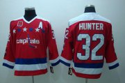 Wholesale Cheap Capitals #32 Hunter Red CCM Throwback 40th Anniversary Stitched NHL Jersey