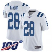 Wholesale Cheap Nike Colts #28 Jonathan Taylor White Men's Stitched NFL 100th Season Vapor Untouchable Limited Jersey