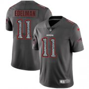 Wholesale Cheap Nike Patriots #11 Julian Edelman Gray Static Youth Stitched NFL Vapor Untouchable Limited Jersey
