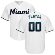 Wholesale Cheap Marlins Personalized Home 2019 Cool Base White MLB Jersey (S-3XL)