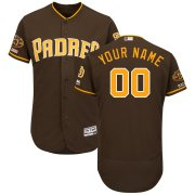 Wholesale Cheap San Diego Padres Majestic Alternate Flex Base Authentic Collection Custom Jersey Brown