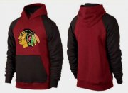 Wholesale Cheap Chicago Blackhawks Pullover Hoodie Burgundy Red & Black