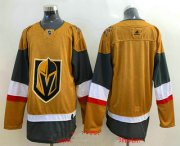 Wholesale Cheap Men's Vegas Golden Knights Blank Gold 2020-21 Alternate Stitched Adidas Jersey