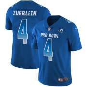Wholesale Cheap Nike Rams #4 Greg Zuerlein Royal Youth Stitched NFL Limited NFC 2018 Pro Bowl Jersey