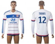 Wholesale Cheap Lyon #12 Thomis Home Long Sleeves Soccer Club Jersey