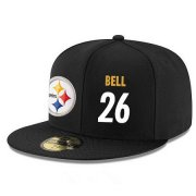 Wholesale Cheap Pittsburgh Steelers #26 Le'Veon Bell Snapback Cap NFL Player Black with White Number Stitched Hat