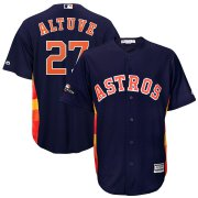 Wholesale Cheap Houston Astros #27 Jose Altuve Majestic 2019 Postseason Official Cool Base Player Jersey Navy