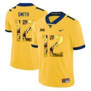 Wholesale Cheap West Virginia Mountaineers 12 Geno Smith Yellow Fashion College Football Jersey