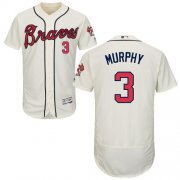 Wholesale Cheap Braves #3 Dale Murphy Cream Flexbase Authentic Collection Stitched MLB Jersey