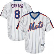 Wholesale Cheap Mets #8 Gary Carter White(Blue Strip) Alternate Cool Base Stitched Youth MLB Jersey