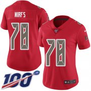 Wholesale Cheap Nike Buccaneers #78 Tristan Wirfs Red Women's Stitched NFL Limited Rush 100th Season Jersey