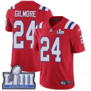 Wholesale Cheap Nike Patriots #24 Stephon Gilmore Red Alternate Super Bowl LIII Bound Men's Stitched NFL Vapor Untouchable Limited Jersey