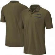 Wholesale Cheap Dallas Cowboys Nike Salute to Service Sideline Polo Olive