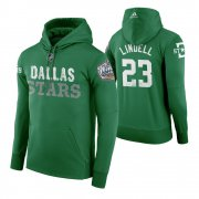 Wholesale Cheap Adidas Stars #23 Esa Lindell Men's Green 2020 Winter Classic Retro NHL Hoodie