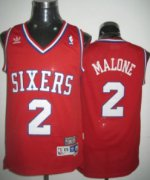 Wholesale Cheap Philadelphia 76ers #2 Moses Malone Red Swingman Throwback Jersey