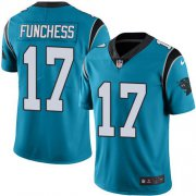 Wholesale Cheap Nike Panthers #17 Devin Funchess Blue Men's Stitched NFL Limited Rush Jersey