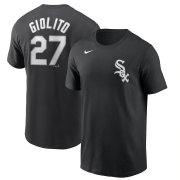 Wholesale Cheap Chicago White Sox #27 Lucas Giolito Nike Name & Number T-Shirt Black