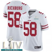 Wholesale Cheap Nike 49ers #58 Weston Richburg White Super Bowl LIV 2020 Youth Stitched NFL Vapor Untouchable Limited Jersey