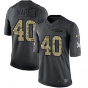 Wholesale Cheap Nike Colts #40 Spencer Ware Black Men's Stitched NFL Limited 2016 Salute to Service Jersey