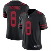 Wholesale Cheap Nike 49ers #8 Steve Young Black Alternate Youth Stitched NFL Vapor Untouchable Limited Jersey