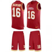 Wholesale Cheap Nike Chiefs #16 Len Dawson Red Team Color Men's Stitched NFL Limited Tank Top Suit Jersey