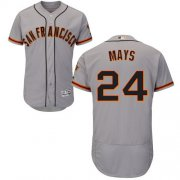 Wholesale Cheap Giants #24 Willie Mays Grey Flexbase Authentic Collection Road Stitched MLB Jersey