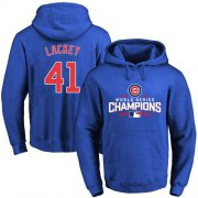 Wholesale Cheap Cubs #41 John Lackey Blue 2016 World Series Champions Pullover MLB Hoodie