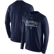 Wholesale Cheap Seattle Mariners Nike Practice Long Sleeve T-Shirt Navy
