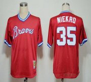 Wholesale Cheap Mitchell And Ness 1980 Braves #35 Phil Niekro Red Stitched MLB Jersey