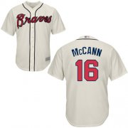 Wholesale Cheap Braves #16 Brian McCann Cream Cool Base Stitched Youth MLB Jersey