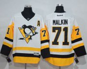 Wholesale Cheap Penguins #71 Evgeni Malkin White New Away Stitched NHL Jersey