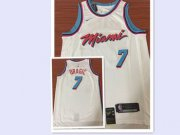 Wholesale Cheap Nike Heat #7 Goran Dragic White NBA Swingman City Edition Jersey