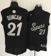Wholesale Cheap Men's San Antonio Spurs #21 Tim Duncan adidas Black 2016 Christmas Day Stitched NBA Swingman Jersey