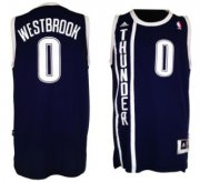 Wholesale Cheap Oklahoma City Thunder #0 Russell Westbrook Revolution 30 Swingman 2013 Blue Jersey