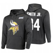 Wholesale Cheap Minnesota Vikings #84 Irv Smith Jr. Nike NFL 100 Primary Logo Circuit Name & Number Pullover Hoodie Anthracite