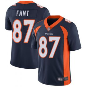 Wholesale Cheap Nike Broncos #87 Noah Fant Navy Blue Alternate Men\'s Stitched NFL Vapor Untouchable Limited Jersey