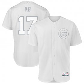 Wholesale Cheap Chicago Cubs #17 Kris Bryant KB Majestic 2019 Players\' Weekend Flex Base Authentic Player Jersey White