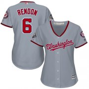 Wholesale Cheap Nationals #6 Anthony Rendon Grey Road 2019 World Series Champions Women's Stitched MLB Jersey