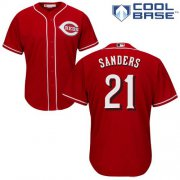 Wholesale Cheap Reds #21 Reggie Sanders Red Cool Base Stitched Youth MLB Jersey