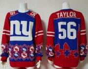 Wholesale Cheap Nike Giants #56 Lawrence Taylor Royal Blue/Red Men's Ugly Sweater
