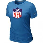 Wholesale Cheap Women's Nike NFL Logo NFL T-Shirt Light Blue