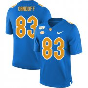 Wholesale Cheap Pittsburgh Panthers 83 Scott Orndoff Blue 150th Anniversary Patch Nike College Football Jersey