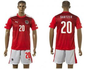 Wholesale Cheap Austria #20 Sabitzer Red Home Soccer Country Jersey
