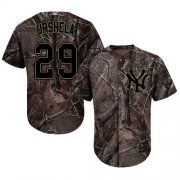 Wholesale Cheap Yankees #29 Gio Urshela Camo Realtree Collection Cool Base Stitched Youth MLB Jersey